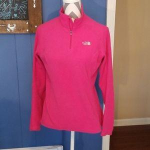 North Face pink fleece pullover size medium